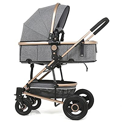 Stroller,Folding Shockproof Lightweight Toddler Strollers,Infant Portable Cart,Can Sit Half Lying 0-3 Years Old(Maximum Loadable 50Kg Baby)