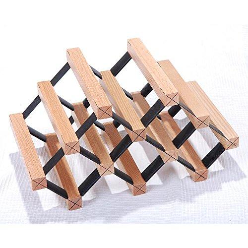 Stapelbare Holz-wein-racks (madewin natürlichen Kiefer Holz Wein Rack Display Stehen stapelbar Flaschenlagerung Halter für 6 Flaschen)