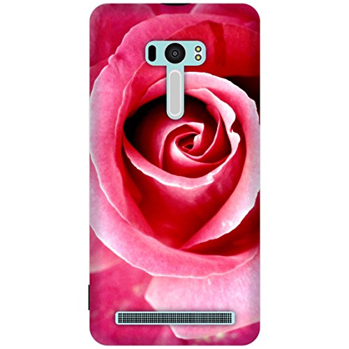 The Racoon Grip printed designer hard back mobile phone case cover for Asus Zenfone Selfie. (Red Rose)  available at amazon for Rs.99