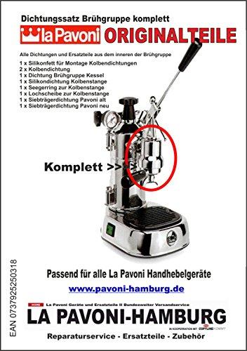 """Preisvergleich Produktbild LaPavoni Dichtungssatz komplett """"Brühgruppe Innen"""", passend für alle Pavoni Handhebelgeräte"""