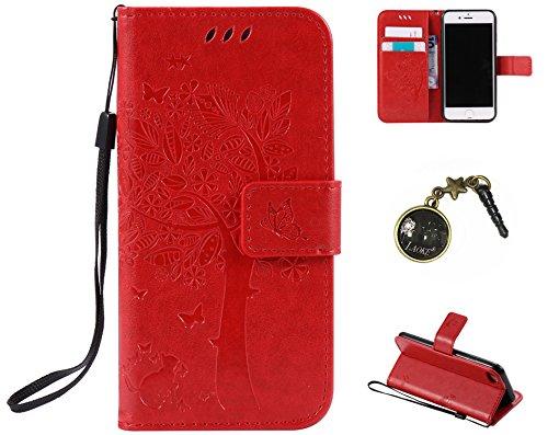 PU Cuir Coque Strass Case Etui Coque étui de portefeuille protection Coque Case Cas Cuir Swag Pour Apple iPhone 7 (4.7 pouces) +Bouchons de poussière (3AQ) 1