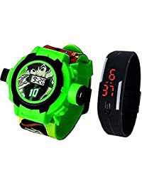 Pappi Boss Analogue Multicolor Dial Children's Analogue Combo Of 2 Watch - Kids Special Combo Watch
