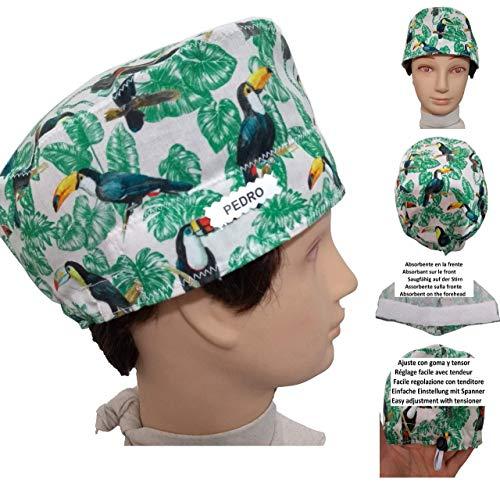 Surgery cap. Toucans for short h...