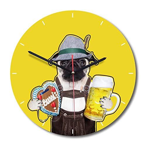 Waz orologio parete orologio da parete in legno vintage 28 cm senza rumori di ticchettio soggiorno cucina decorazione camera da letto,d