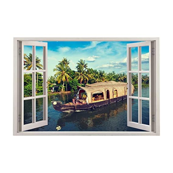 Friends Office Automation 3D Wall Window Vinyl Sticker Wallpaper (Multicolor, Size : 90 cm X 60 cm)(3 x 2 Feet) Design : 69