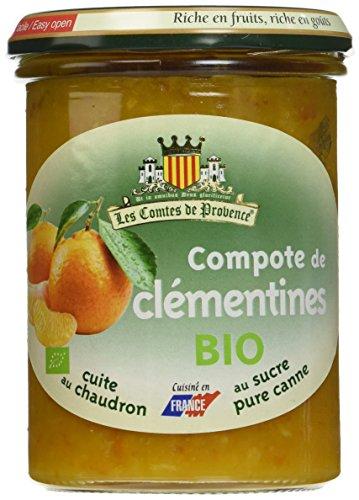 Les Comtes de Provence Compote de Clémentines Bio 420 g - Lot de 3