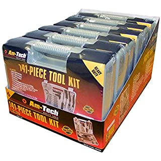 Cutting-Edge Am-Tech Tool Kit in Blow Moulded Case (141 Pieces) - Cleva® Alute® Edition