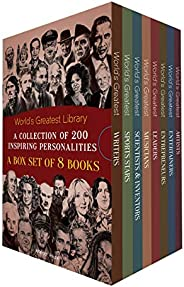 World's Greatest Library : A Collection Of 200 Inspiring Personalities (Box Set of 8 Biograph
