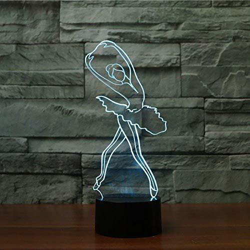 Mädchen Nette Ballerina Nachtlicht Led Tischlampe Für Kinder Kinder Geschenk Weihnachten Innendekor Baby Schlaf Leuchte Halloween Geschenk ()