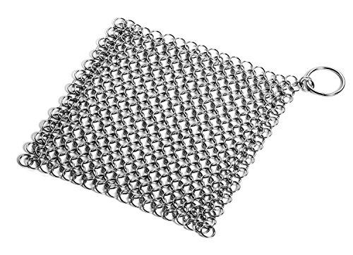 native-spring-cotte-de-maille-en-acier-inoxydable-tampon-a-recurer-la-fonte-7x7-pouces