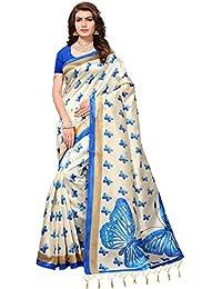 Mrinalika Fashion Art Silk Saree For Women (Cream_Sarees Below 500 Rupees_Apha1003_Free Size)