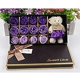 PIXNOR 12 Rose Bad Seife Geschenkbox mit Puppe