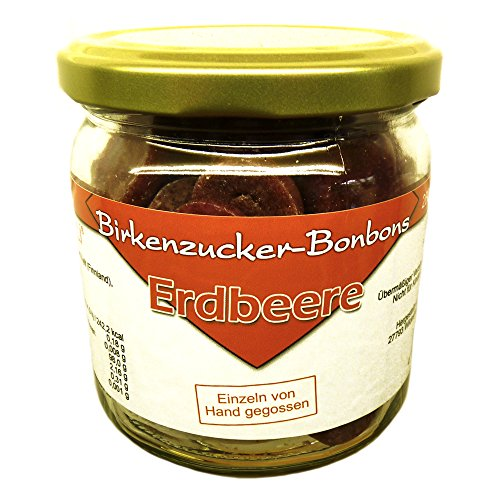 Birkenzucker-Bonbons im Glas