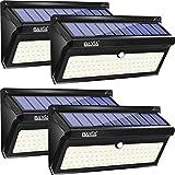 Luce Solare LED Esterno【Versione 100LED Aggiornata】BAXiA 2000LM Luci Solari con Sensore di Movimento, Lampada Solare Impermeabile IP65, Lampade Solari Esterno per Giardino Cortile Garage (4 Pack)