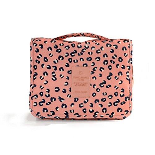 Winomo beauty case da viaggio da appendere impermeabile trousse organizer borsa pochette per trucchi