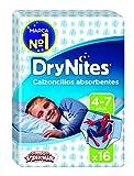 DryNites - Calzoncillos absorbentes para niños de 4 - 7 años, 2 paquetes x 16 calzoncillos (32 calzoncillos)