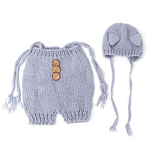 Neugeborenes Baby Fotografie Requisiten Pullover und Mütze Set Schöne Fox Kostüm Säuglings Stricktuch (Fox Baby Kostüm)