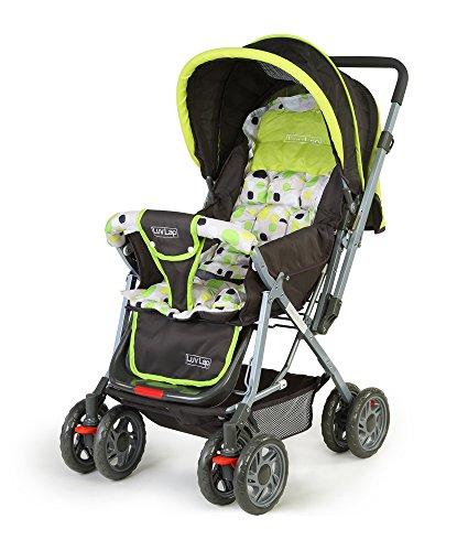 LuvLap Sunshine Stroller/Pram, Easy Fold, for Newborn Baby/Kids, 0-3 Years (Light Green)