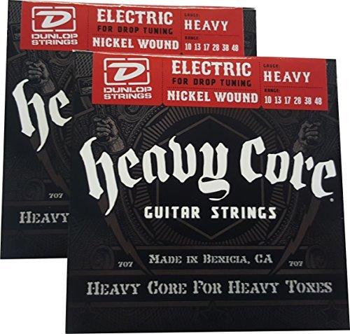Dunlop Heavy Core Heavy E-Gitarre Saiten 10-48- 2Pack (Saiten, E-gitarre Heavy)