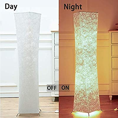 Yenny shop Natural Tyvek Fabric Originality Floor lamp Soft Lighting Home Minimalism Create Romantic Atmosphere (Style1-general+2 Led Bulbs)