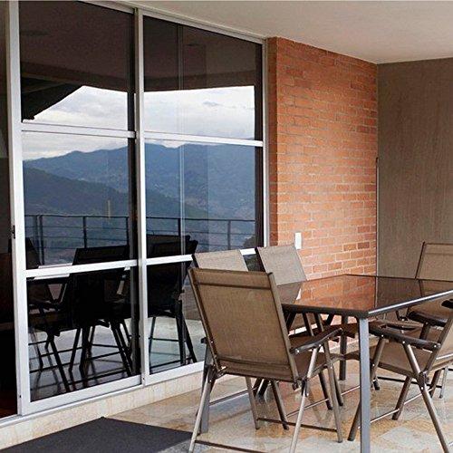Zanbringe 29.5x78.7 Zoll(75x200CM) nichtklebenden Home & Büro Sonnenlicht Kontrolle statischer Privatsphäre Fenster Klarsichtfolie, schwarz & grau (Ergänzen Kontrolle)