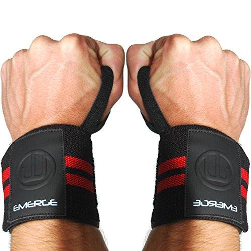 Handgelenksbandagen Abstützungs - Starkes Handgelenkauflagen - Bequeme Zughilfen für Gewichtheben und WOD Cross Training - 100% Garantie Emerge