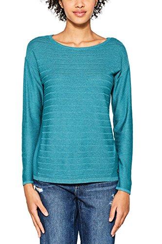 ESPRIT Damen Pullover 087EE1I001, Grün (Teal Green 5 374), X-Small Pullover Teal
