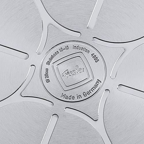 Fissler Pfanne crispy steelux premium / Pfanne Induktion / Edelstahl Pfanne 28 cm Ø / 121-400-28-100/0