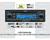 VDO CDD728UB-BU 24 Volt - CD/MP3-Autoradio mit Bluetooth / DAB / USB / AUX-IN