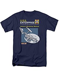 Star Trek - Mens Enterprise Manual T-Shirt