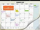 Calendario de Pared 2020 de SmartPanda - Calendario Mensual de Sobremesa - Noviembre 2019 a Diciembre de 2020 - Vista de un Mes - 33 cm x 43 cm