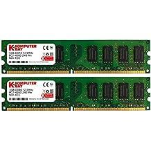 Komputerbay - Módulo de memoria DIMM para PC, 2GB (2 x 1GB), DDR2, 533MHz, PC2-4200/PC2-4300, DDR2 533 240