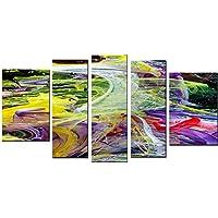 Startonight decorazione da parete in vetro acrilico Decor caos di colori set, orologio e un moderno set di 5totale 90x 180cm The Ultimate Wall Art.