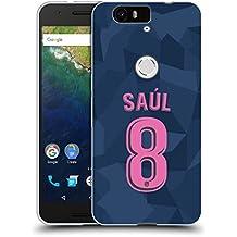 Official Atletico Madrid Saúl Ñíguez 2017/18 Players Third Kit Group 1 Soft Gel Case for Huawei Nexus 6P