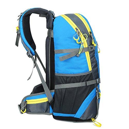 Zaino Zaino Escursionismo Alpinismo All'aperto Viaggiare Casual Daypack Borse Ad Alta Capacità,Black Blue