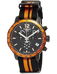 Tissot Reloj de hombre cuarzo suizo cronógrafo correa de nylon caja de acero dial negro T0954173705700