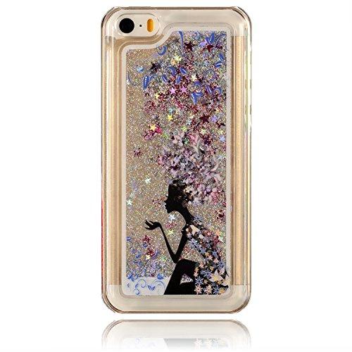 iPhone 5C Coque Silicone,iPhone 5C Coque Transparente,Coque Housse pour iPhone 5C,iPhone 5C Souple Coque Etui en Silicone,EMAXELERS iPhone 5C Coque Silicone Etui Housse,iPhone 5C Coque blanc Fleur Mod Fairy Girl 2