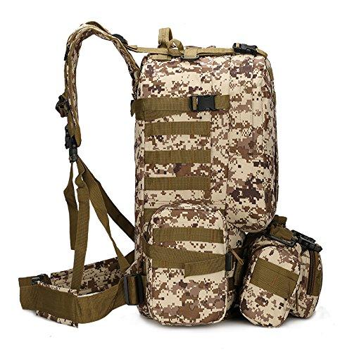 GOUQIN Outdoor Rucksack Klassische Mode Multifunktionale Kombination Dual Schulter Taschen Outdoor Sport Klettern Ein Paket Grün