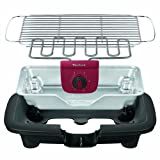 Tefal BG9018 EasyGrill mit herausnehmbaren Aluminium-Hitzereflektor, 2,200 W, schwarz / burgundrot -