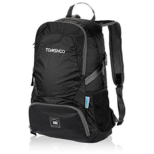 TOMSHOO 30L Mochila Bolsa Plegable Impermeable Unisexo Ultra Ligero de Nylon para Trekking Viajes al Aire Libre Ciclismo