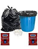 #9: Sahil Pack of 2 Black Biodegradable 20 Ltrs Drawstring Garbage Bags - 60 pcs