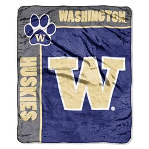 NCAA Washington Huskies 50-Inch-by-60-Inch Raschel Plush Throw