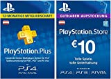 PS Plus Mitgliedschaft 12 Monate + PlayStation Store Guthaben-Aufstockung 10 EUR [PS4, PS3, PS Vita PSN Code - österreichisches Konto]