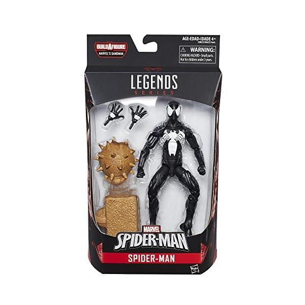 Marvel Spiderman Serie Legends Symbiote Spiderman, de 15,24 cm, diseño de Spider-Man 2