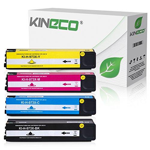 4 Kineco Tintenpatronen kompatibel zu HP 973X für PageWide Pro 452dn 452dw 452dwt 477dn 477dw 477dwt 552dw 577dw 577z -