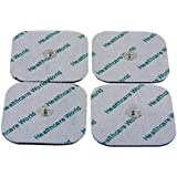 Healthcare World Four Stud Tens Pads For Beurer sanitas Tens Machines by Healthcare World
