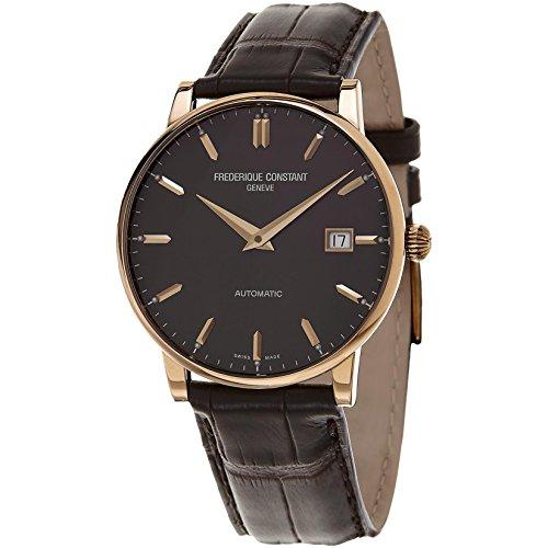 Frederique Constant Slimline Automatic 18kt Rose Gold Mens Strap Watch Date...