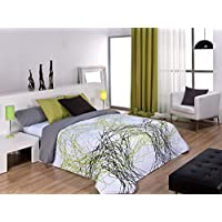 Textilonline - Funda Nordica 3 Pzas. Tyna (Cama 180 cm, Color Verde)