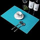 Tischsets Mat Bowl Pad Western Essen Mat Untersetzer Waterproof Pad Coffee Coaster Tischsets für Esstisch,4er Pack