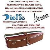 Sattel Sattel für vespa 125Primavera Stoff Vintage in semilpelle braun Sitz Dieffe p0030ftm mit Stirnband TRICOLOR Dieffe Füllung Frottee Made in Italy